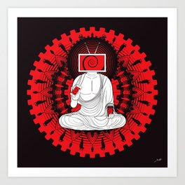 Manipulated Buddha Art Print