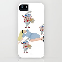 Alice, You're late, late, late... iPhone Case
