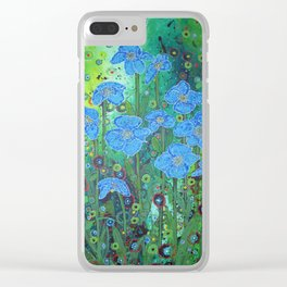 Himalayan Poppies Clear iPhone Case