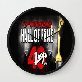 40th Anniversary Hall Of Fame Wall Clock