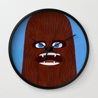 chewbacca Wall Clocks featuring Chewbacca by Jack Teagle