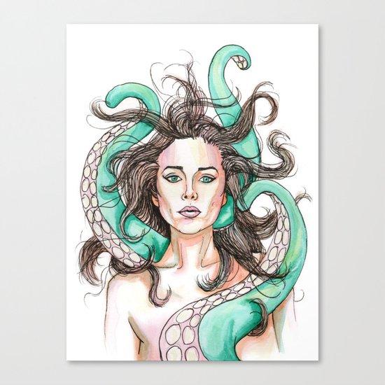 tentacle woman Canvas Print