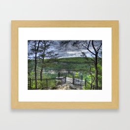Out On a Ledge Framed Art Print
