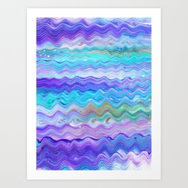 Unicorn Brainwaves Art Print