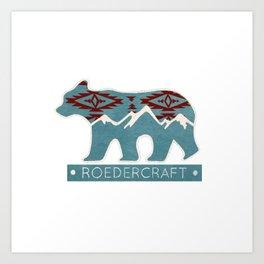 ROEDERcraft Bear Art Print