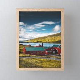 faroean village Framed Mini Art Print