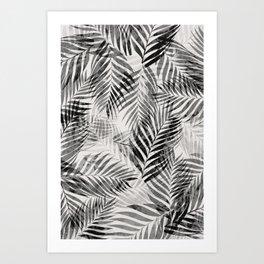 Palm Leaves - Black & White Art Print