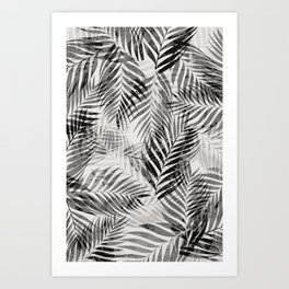 Palm Leaves - Black & White Art Print