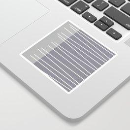 Mid century modern textured gray stripes Sticker