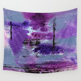 Purple Explosion Wall Tapestry
