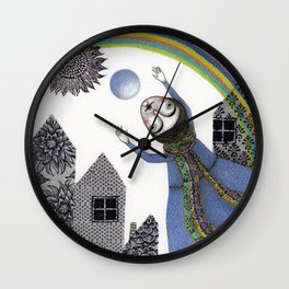 Rainbow Mine (2) Wall Clock