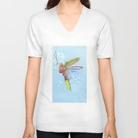 firefly V-neck T-shirts featuring Firefly by Nate Barton