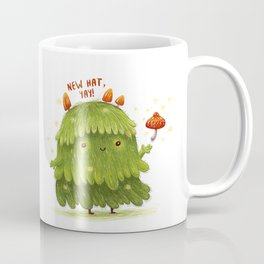 Cute kawaii spirit of the forest with fly agaric as new hat Coffee Mug