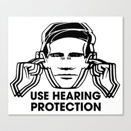 FAC 1 tribute - Factory Records - Use Hearing Protection Canvas Print