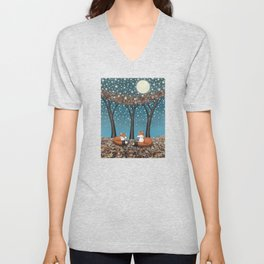 starlit foxes Unisex V-Neck
