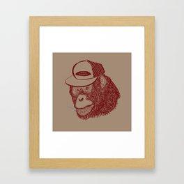 Monkey Trucker Framed Art Print