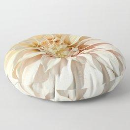 Dahlia white macro 043 Floor Pillow