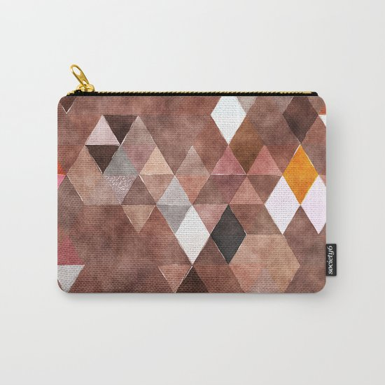 Retro Triangles Pattern 04 Carry-All Pouch