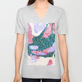 Abstract Dot Flowers Light Palette Unisex V-Neck