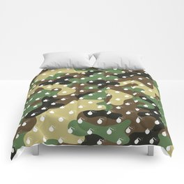 CAMO & WHITE BOMB DIGGITYS ALL OVER LARGE Comforters