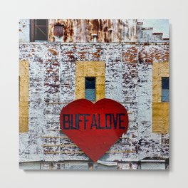 Buffalo Urban statement Metal Print