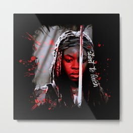 Michonne The Walking Dead Start to Finish Metal Print