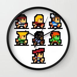 Minimalistic - Street Fighter - Pixel Art Wall Clock