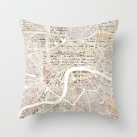 london map Throw Pillows featuring London map by Mapsland