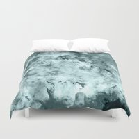 water color Duvet Covers featuring WateR by 2sweet4words Designs