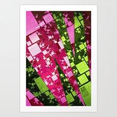 Square Watermelon Art Print