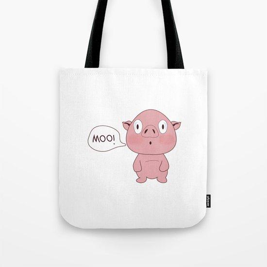 SOLD!! Confused Pig Tote Bag