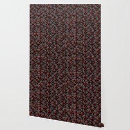 Tech Mosaic Red Wallpaper