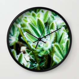 Lupine Leaves Photography Print Wall Clock