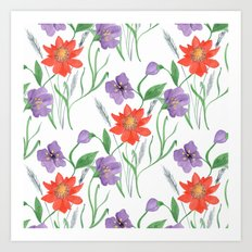 Bright floral pattern.3 Art Print
