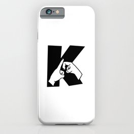 British sign language Letter K iPhone Case