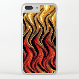 Flames, Abstract Art by Tito Clear iPhone Case
