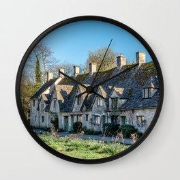 Arlington Row Cotswolds Landmark Historic Homes England Countryside  Wall Clock