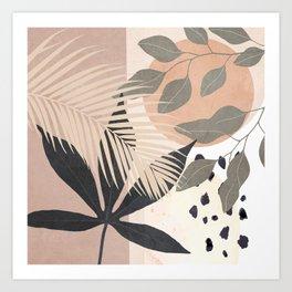 Abstract Tropical Art IX Art Print