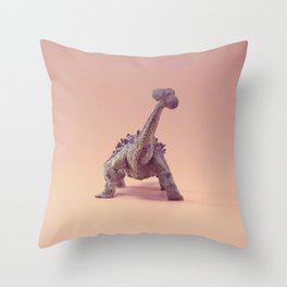 Ankylosaurus's bud Throw Pillow