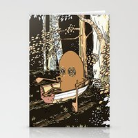 rowing Stationery Cards featuring Forest Rowing by Emily Joan Campbell