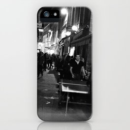 Golden triangle night life - Bordeaux iPhone Case