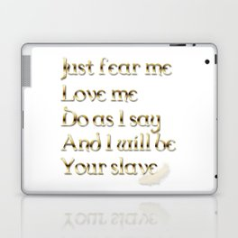 Just Fear Me (white bg) Laptop & iPad Skin