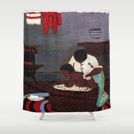 African American Masterpiece 'Saturday Night Bath' by Horace Pippin Shower Curtain