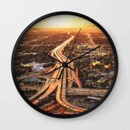 junction in los angeles Wall Clock