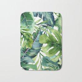 Tropical Jungle Leaves Bath Mat