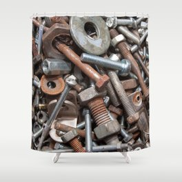 Nuts and Bolts Shower Curtain