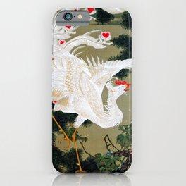 Ito Jakuchu - Old Pine Tree And White Phoenix - Digital Remastered Edition iPhone Case