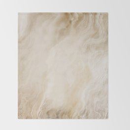 Brown Turquiose Marble texture Throw Blanket
