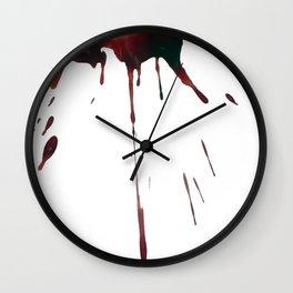 Menstrual Paintings I Wall Clock