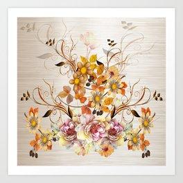 Fall Flower Centerpiece Art Print